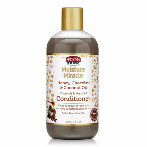 African Pride Moisture Miracle Honey, Chocolate & Coconut Oil Conditioner (12 oz.)