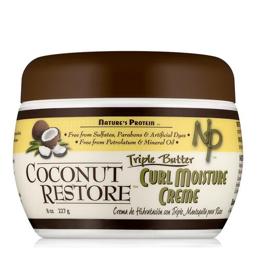 Coconut Restore Triple Butter Curl Moisture Creme (8 oz)