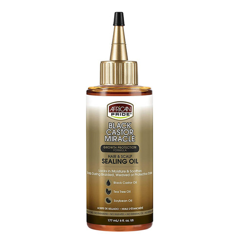 African Pride Black Castor Miracle Hair & Scalp Sealing Oil (6 oz.)