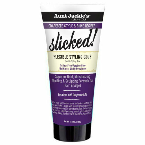 Aunt Jackie's Grapeseed Style & Shine Recipes SLICKED! Flexible Styling Glue (4 oz.)