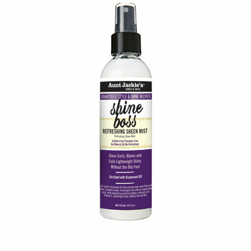 Aunt Jackie's Grapeseed Style & Shine Recipes SHINE BOSS Refreshing Sheen Mist (4 oz.)