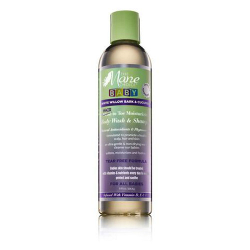 The Mane Choice Baby White Willow Bark & Cucumber Baby Hair to Toe Wash & Shampoo (8 oz.)