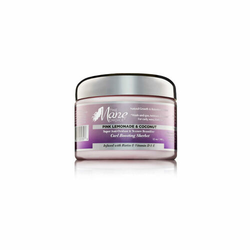 The Mane Choice Pink Lemonade & Coconut Super Anti-Oxidant & Texture Beautifier Curl Boosting Sherbet (12 oz.)