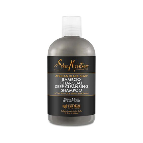 SheaMoisture African Black Soap Bamboo Charcoal Deep Cleansing Shampoo (13 oz.)