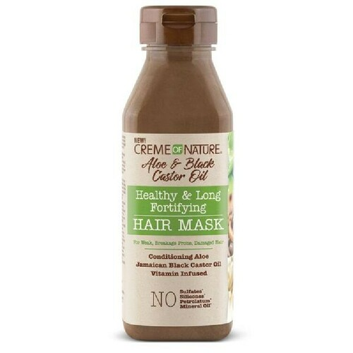 Creme of Nature Aloe & Black Castor Oil Healthy & Long Fortifying Hair Mask (12 oz.)