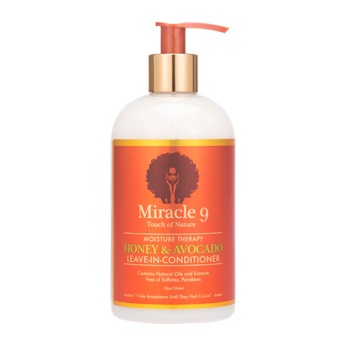 Miracle 9 Touch of Nature Moisture Therapy Honey & Avocado Leave in Conditioner (12 oz.)
