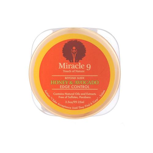 Miracle 9 Touch of Nature Beyond Sleek Honey & Avocado Edge Control (3.5 oz.)