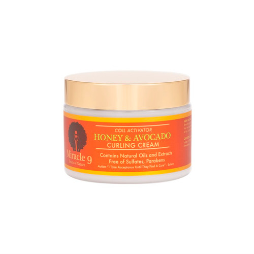Miracle 9 Touch of Nature Coil Activator Honey & Avocado Curling Cream (12 oz.)