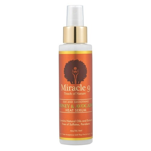 Miracle 9 Touch of Nature Silk and Smoothing Honey & Avocado Heat Serum (4 oz.)