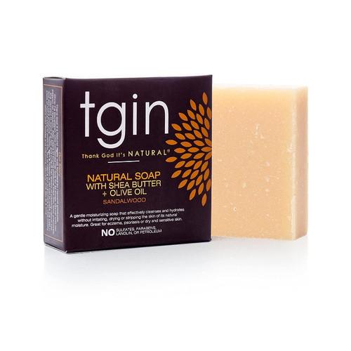 tgin Olive Oil Soap - Sandalwood (4 oz. Bar)