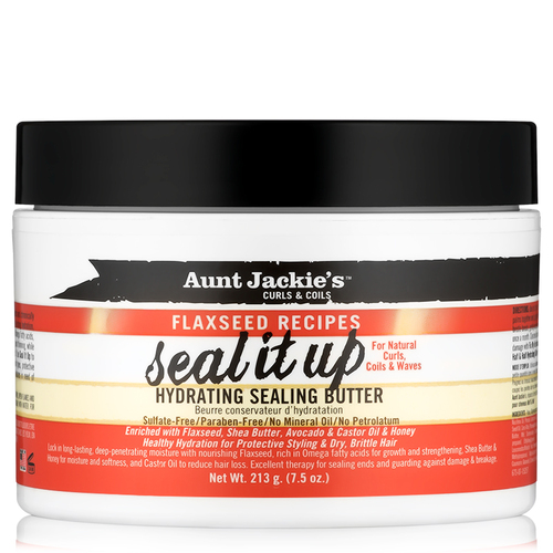 Aunt Jackie's Curls & Coils Flaxseed Recipes Seal It Up Hydrating Sealing Butter (7.5 oz.)