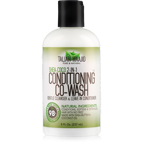 Taliah Waajid Pure & Natural Shea-Coco 2-In-1 Conditioning Co-Wash (8 oz.)