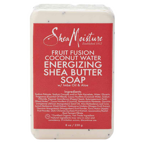 SheaMoisture Fruit Fusion Coconut Water Energizing Shea Butter Bar Soap (8 oz.)