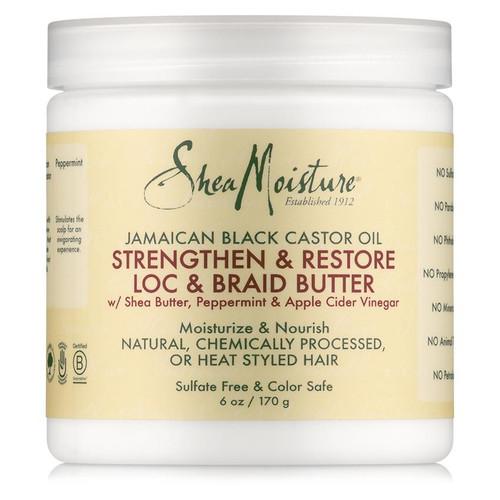 SheaMoisture Jamaican Black Castor Oil Strengthen & Grow Loc & Braid Butter (6 oz.)