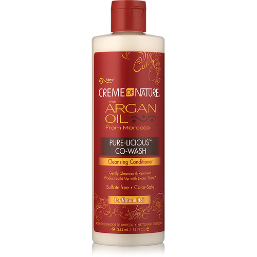 Creme of Nature Argan Oil Pure-licious Co-Wash (12 oz.)