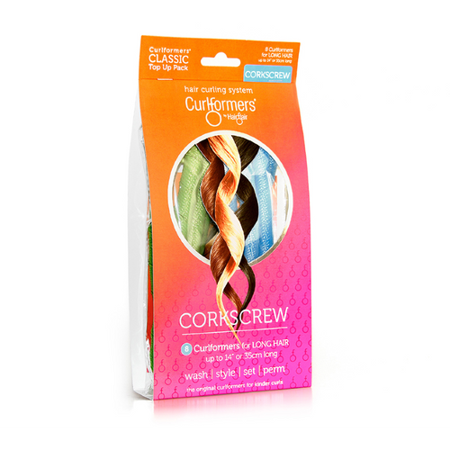 Curlformers by Hair Flair Classic Hair Top-Up Pack Corkscrew Curls for Long Hair (8 ct.)