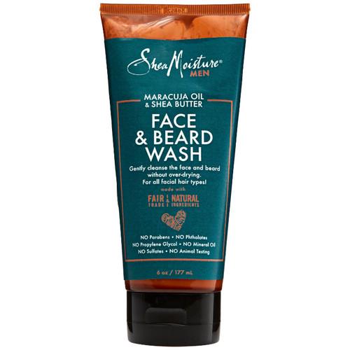 SheaMoisture Men Maracuja Oil & Shea Butter Face & Beard Wash (6 oz.)
