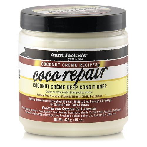 Aunt Jackie's Coconut Creme Recipes Coco Repair Deep Conditioner (15 oz.)