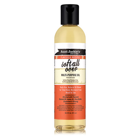 Aunt Jackie's Curls & Coils Flaxseed Recipes Soft All Over Multi-Purpose Oil (8 oz.)
