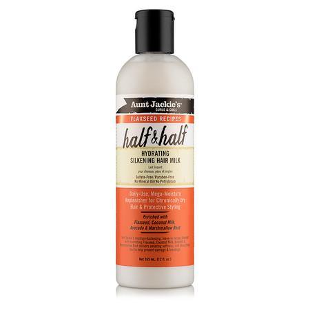 Aunt Jackie's Curls & Coils Flaxseed Recipes Half & Half Hydrating Silkening Hair Milk (12 oz.)