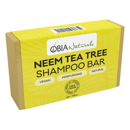 OBIA Naturals Hair Care Neem & Tea Tree Shampoo Bar