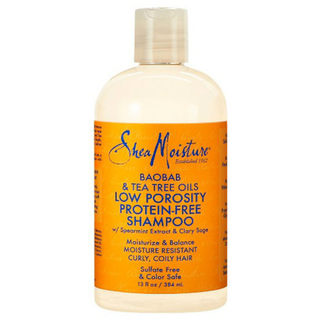 SheaMoisture Baobab & Tea Tree Oils Low Porosity Protein-Free Shampoo (13 oz.)