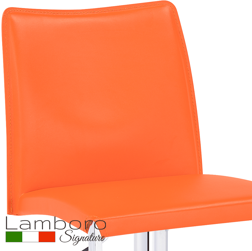 Eccellente Signature Bar Stool Tan Orange