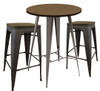Tolix Bar Stool and Round Table Package
