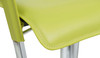 Eleganza Signature Real Leather Bar Stool Lime Green