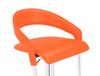 Eleganza Signature Leather Bar Stool Tan Orange