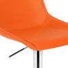Magnifico Signature Leather Bar Stool Tan Orange