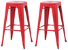 Set of 2 Oslo Bar Stools Red