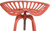 Pair of Industrial Tractor Bar Stools Red