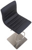 Deluxe Aldo Brushed Bar Stool Black Square Base