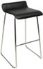Baceno Fixed Height Curved Bar Stools Black