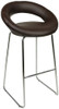 Sorrento Kitchen Fixed Height Curved Bar Stools Brown
