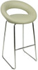 Sorrento Kitchen Fixed Height Curved Bar Stools Grey
