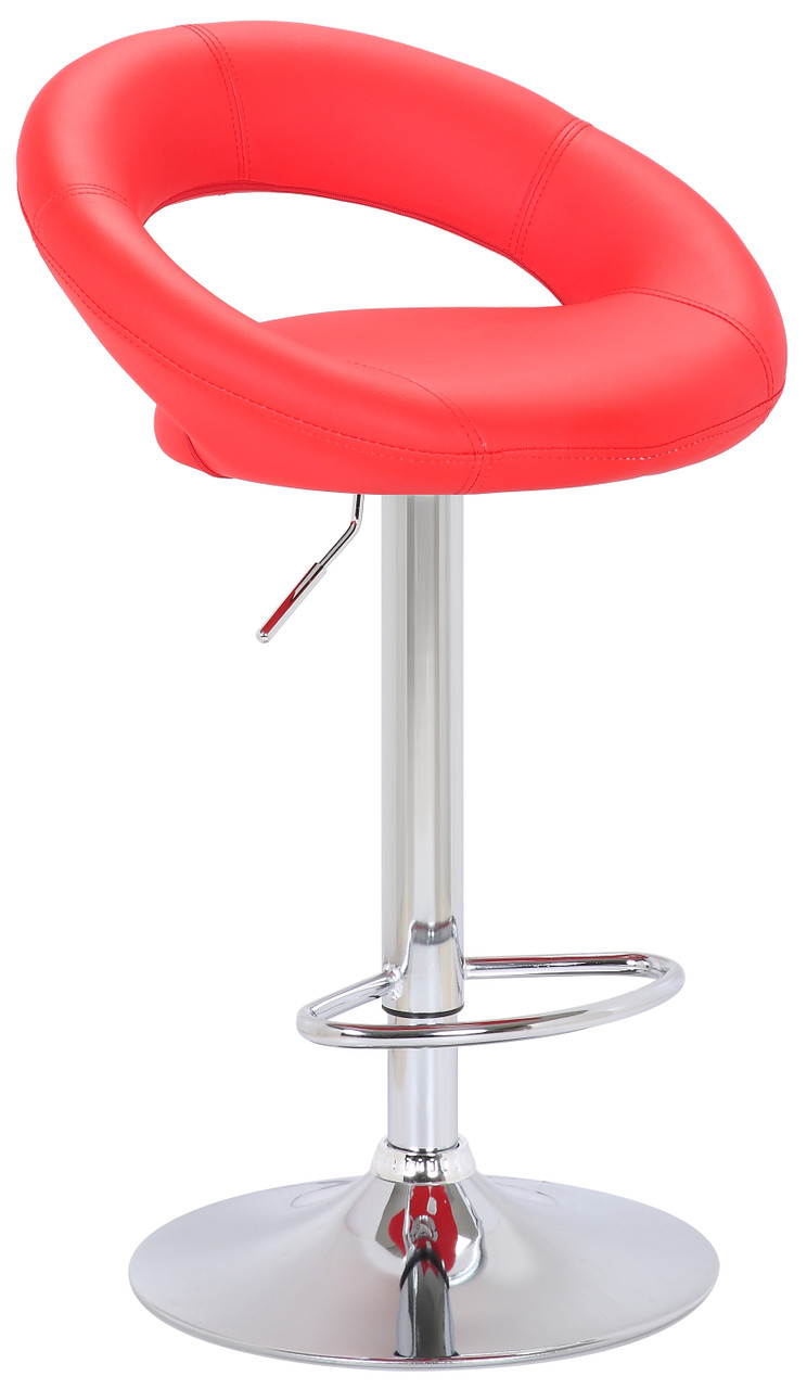 red bar stool from our sorrento kitchen range