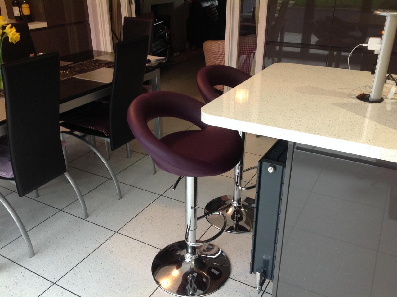 Sorrento Kitchen Bar Stool Purple