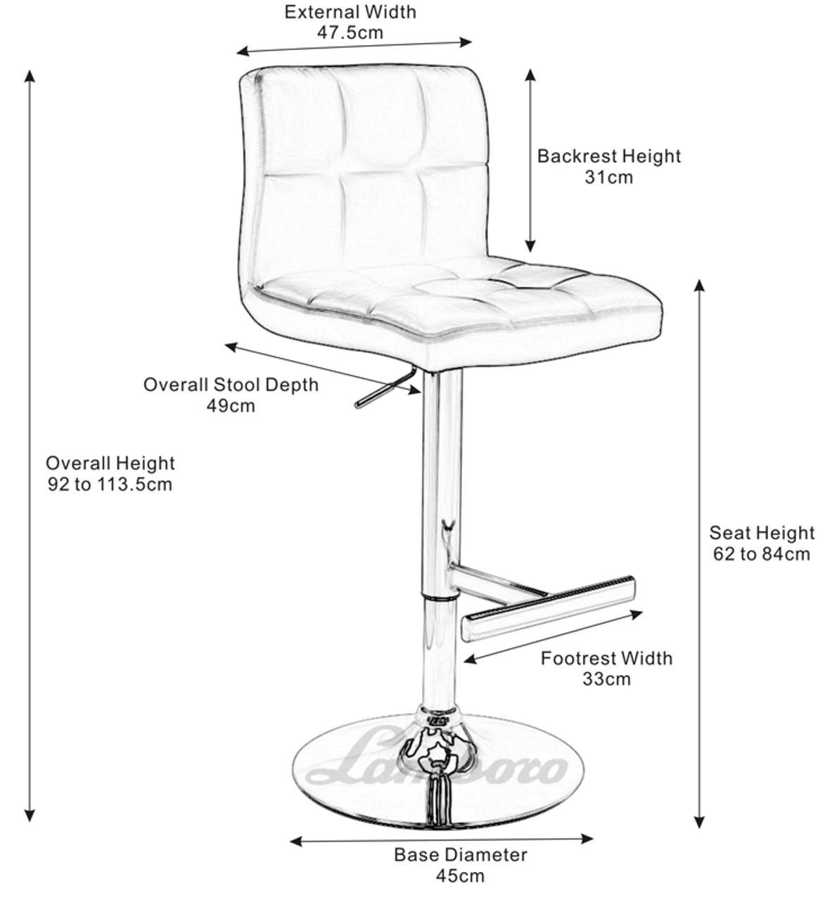 Wondrous Deluxe Allegro Brushed Bar Stool Brown Square Base Evergreenethics Interior Chair Design Evergreenethicsorg