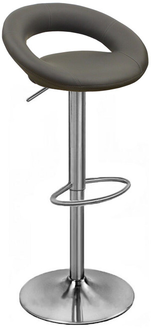 Sorrento Kitchen Brushed Bar Stool Charcoal Grey
