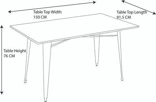 Sardinia Grey Darkwood Large Table