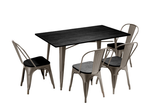 Sardinia Grey Darkwood  Large Table