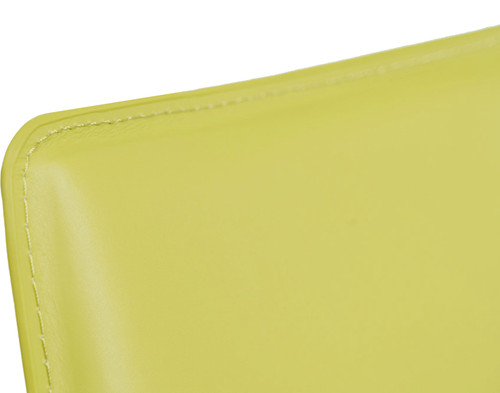 Eccellente Signature Leather Bar Stool Lime Green