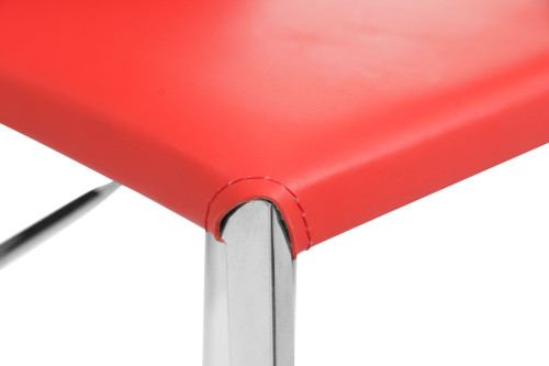 Eccellente Signature Leather Bar Stool Red