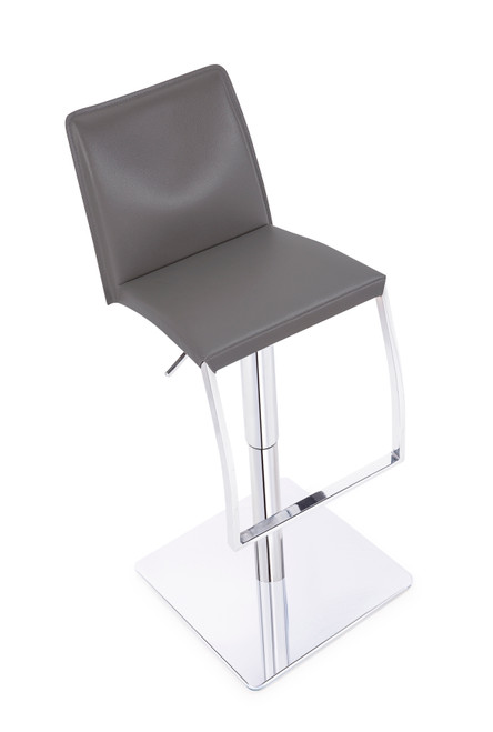 Eccellente Signature Real Leather Bar Stool Charcoal Grey