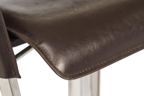 Eleganza Signature Real Leather Bar Stool Dark Espresso