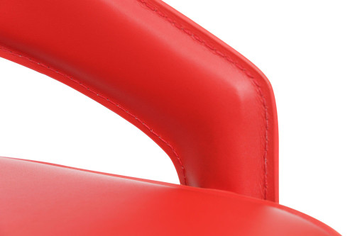 Eleganza Signature Real Leather Bar Stool Red