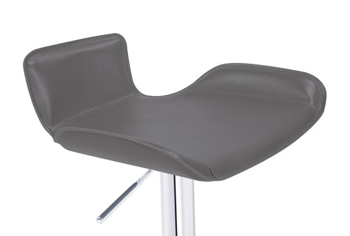 Favoloso Signature Real Leather Bar Stool Charcoal Grey