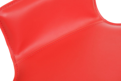 Favoloso Signature Real Leather Bar Stool Red
